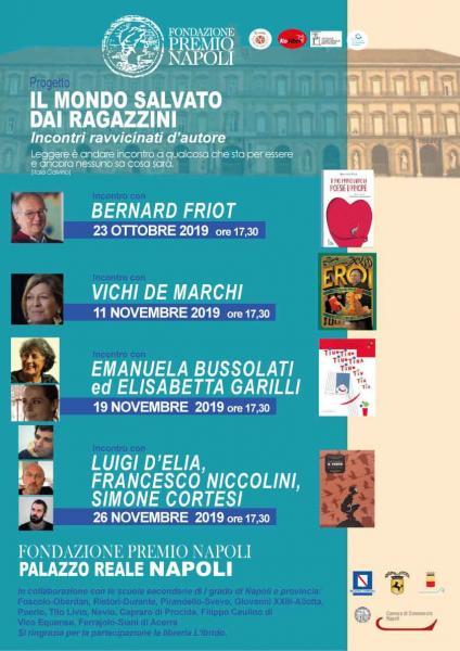 La Fondazione Premio Napoli ospita il terzo incontro ravvicinato d'autore del progetto «Il mondo salvato dai ragazzini»