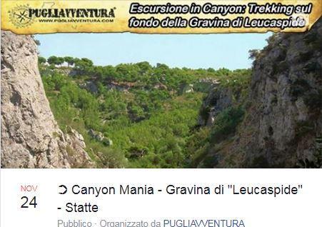 Canyon mania - trekking in Gravina di Leucaspide a Statte