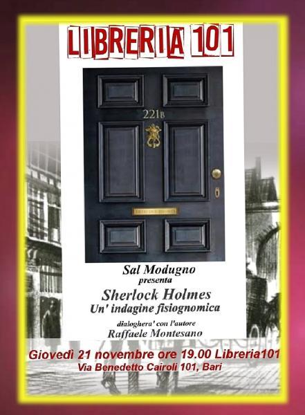 """Presentazione del libro di Sal Modugno """"Sherlock Holmes. Un indagine fisiognomica"""""""