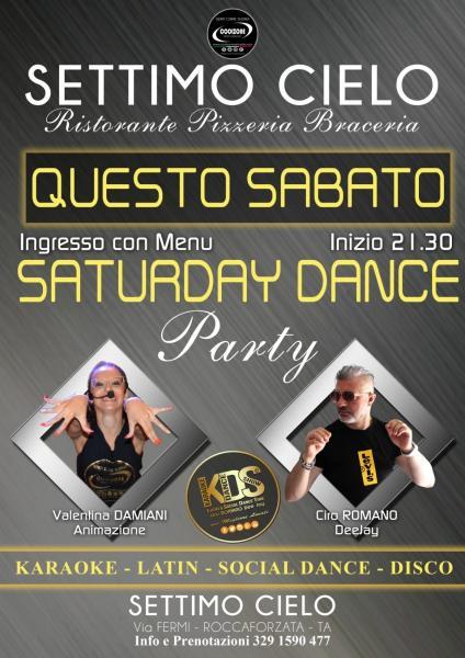 al Settimo Cielo Roccaforzata... dj Ciro Romano e l'animatrice Valentina Damiani.  Balli di gruppo, karaoke, social dance, latino, caraibico, dance ecc