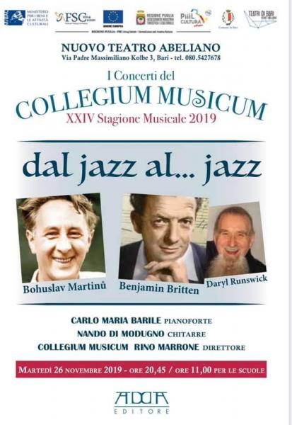 "Nuovo Appuntamento con ""I Concerti del Collegium Musicum"""