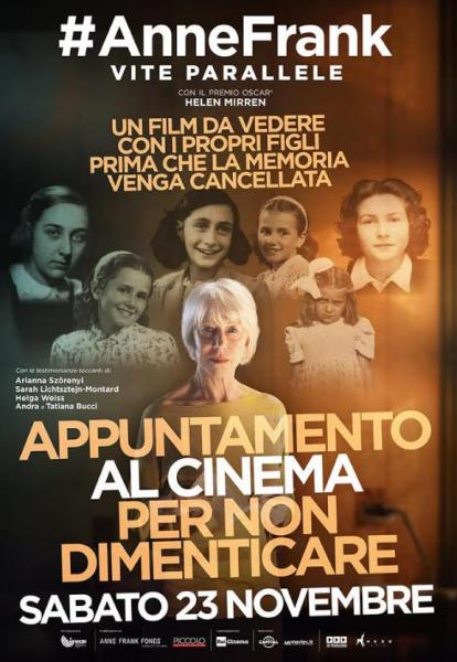 """Torna al Paolillo """"Anne Frank. Vite Parallele"""""""
