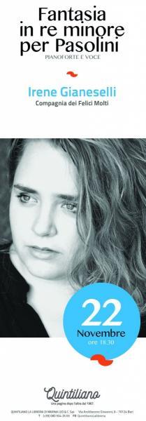 Fantasia in Re minore per Pasolini con Irene Gianeselli