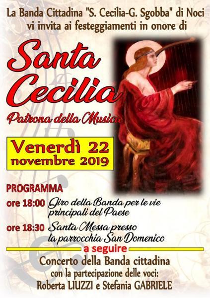 """Festa di Santa Cecilia con la banda """"Santa Cecilia - G. Sgobba"""""""