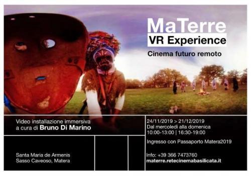 MaTerre VR Experience, il film colletivo a Matera