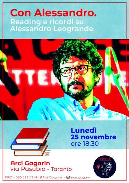 Con Alessandro. Reading e ricordi su Alessandro Leogrande