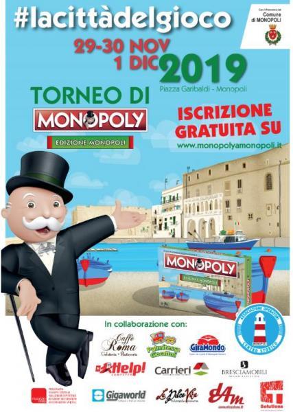 A Monopoli si gioca Monopoly in gigante