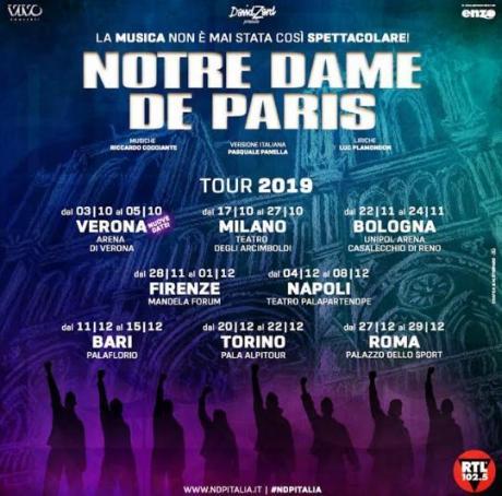 "Torna a teatro ""Notre Dame de Paris"""