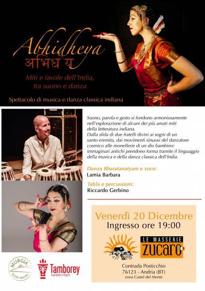ABHIDHEYA - Miti e Favole Dell'India Tra Suono e Danza