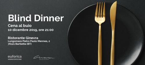 BLIND DINNER: Cena al buio