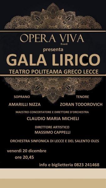 Amarilli Nizza e Zoran Todorovich con Oles in Gala' Lirico