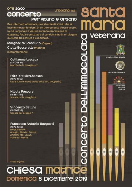 Concerto dell'Immacolata - Organo: M. Sciddurlo, Violino: G. Buccarella