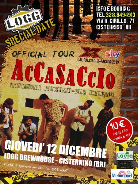 """AcCaSaCcIo - Presentazione del tour """"Il giostraio"""""""