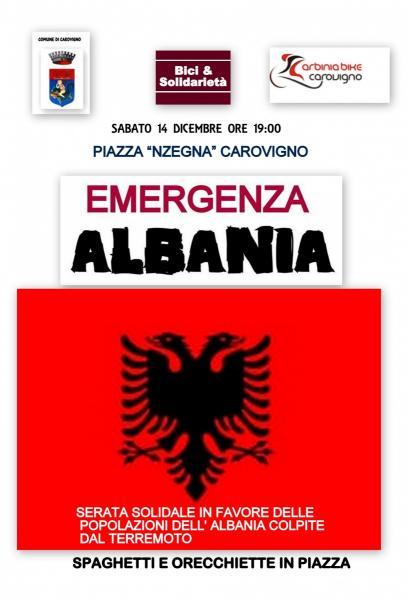 EMERGENZA ALBANIA - SERATA SOLIDALE IN PIAZZA A CAROVIGNO