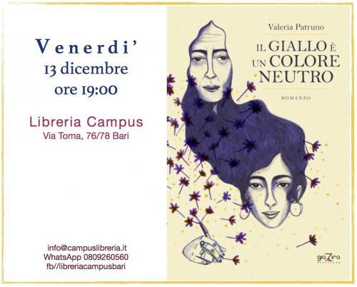 Valeria Patruno presenta Il Giallo è un Colore Neutro