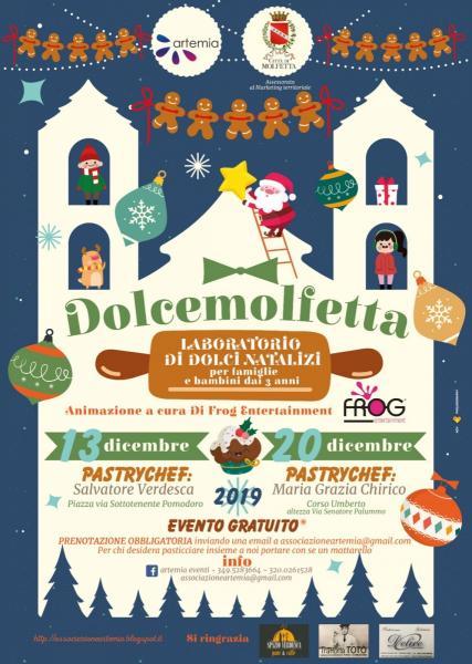 DolceMolfetta. Il 13 e il 20 dicembre a Molfetta i laboratori tipici per famiglie e bambini tra dolci e divertimento