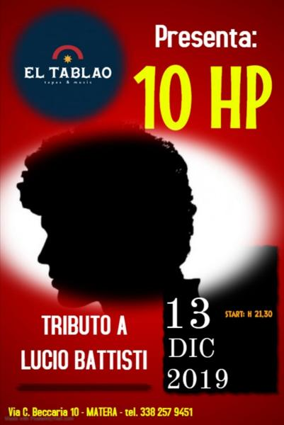 10 HP - Tributo a Lucio Battisti