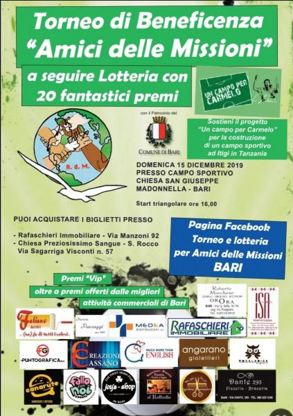 Torneo e lotteria di beneficenza Amici delle Missioni