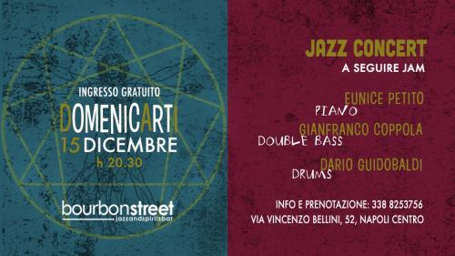 Live jazz music con la speciale partecipazione di Eunice Petito nel centro di Napoli