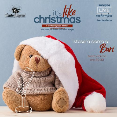 "Il coro Gospel Wanted Chorus in ""it's like Christmas"""