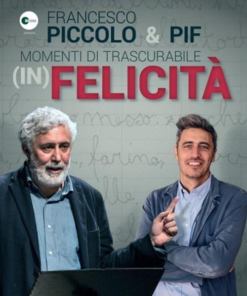 """Francesco Piccolo e Pif in """"Momenti di Trascurabile (In) Felicità """""""
