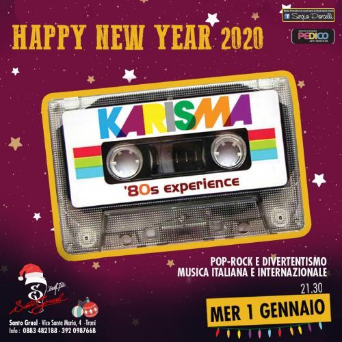 Happy new year 2020 - Karisma ' 80 experience live a Trani