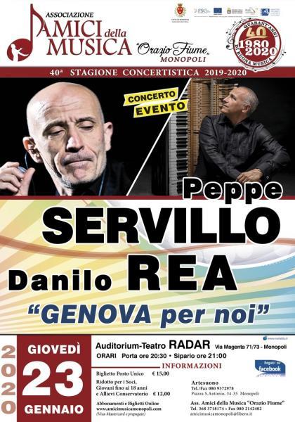 """Peppe Servillo & Danilo Rea in..""""Genova per Noi"""""""