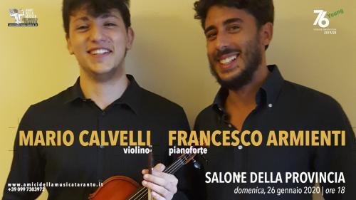 MARIO F. CALVELLI violino - FRANCESCO ARMIENTI pianoforte