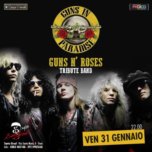 Guns In Paradise - Guns n' Roses tribute band a Trani