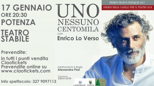 """""""Uno Nessuno Centomila"""" con Enrico Lo Verso va in scena a Potenza"""