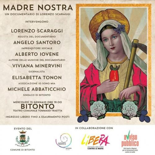 """""""Madre nostra"""" il documentario a Bitonto"""