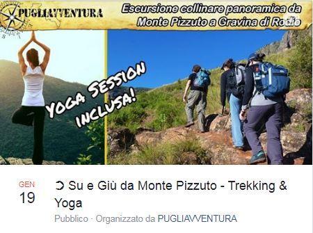 SU E GIU' DA MONTE PIZZUTO - Trekking & Yoga