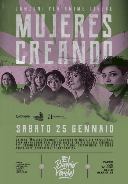 Mujeres Creando live al Barrio Verde