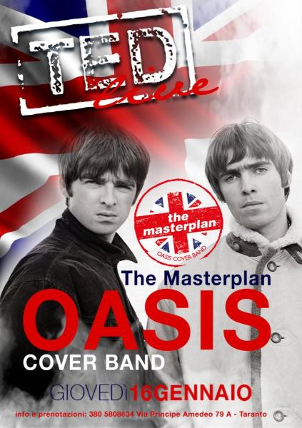 Oasis cover band The Masterplan LIVE