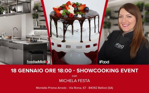 Drip Cake, la torta che gocciola della pastry blogger campana Michela Festa, protagonista di uno show-cooking gratuito