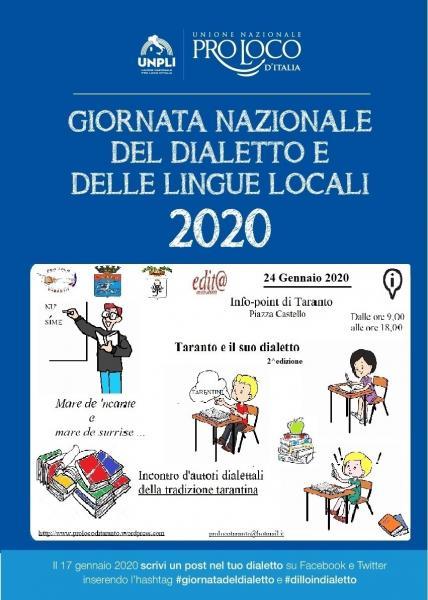Giornata Nazionale del dialetto e delle lingue locali. Taranto e il suo dialetto