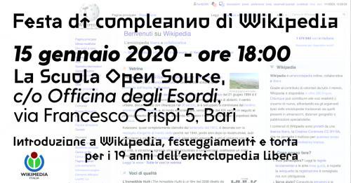 Auguri enciclopedia libera: Wikipedia compie 19 anni