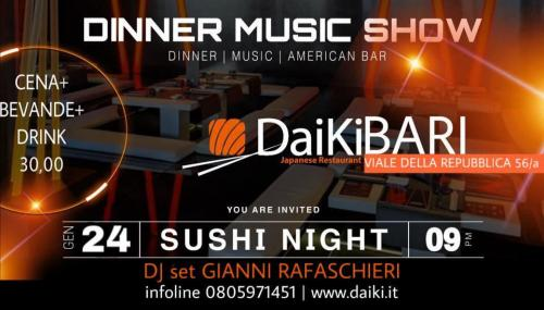Dinner Sushi Music Show