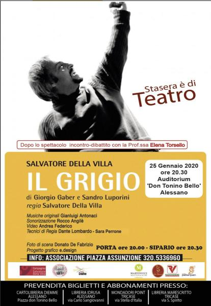 Salvatore Della Villa in IL GRIGIO di Giorgio Gaber e Sandro Luporini