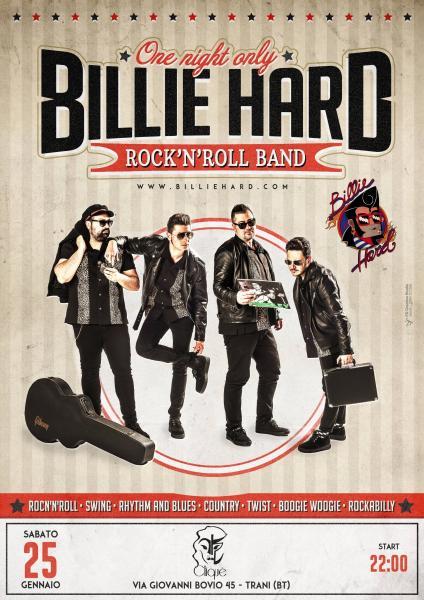 Billie Hard rock'n'roll band live at Cliquè