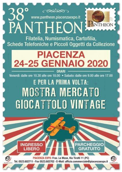 38° PANTHEON - 24 -25 GENNAIO 2020