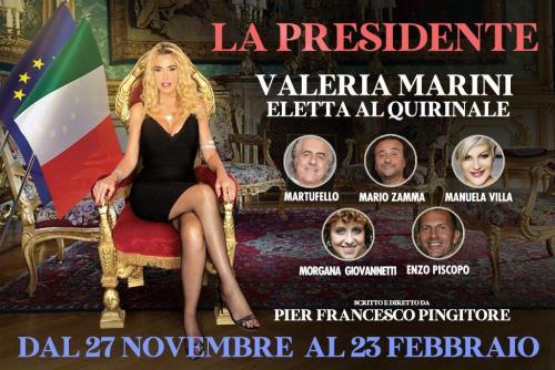 La Presidente con Valeria Marini