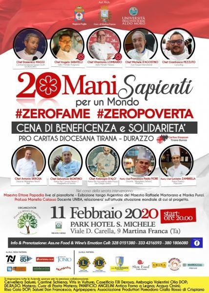 20  MANI  SAPIENTI   PER  UN  MONDO   #ZEROFAME  &  #ZEROPOVERTA