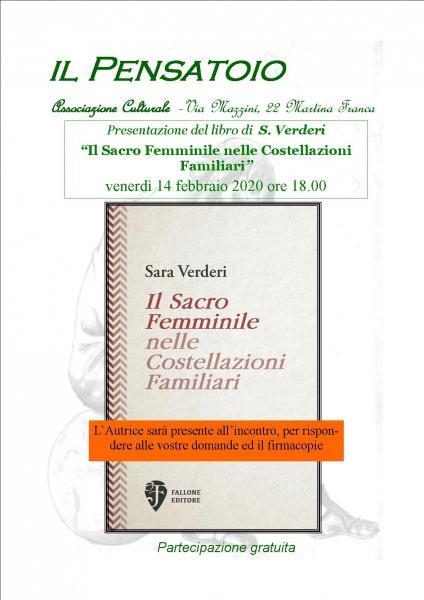 """Presentazione del libro """"Il Sacro Femminile nelle Costellazioni Familiari"""" di  S. Verderi"""