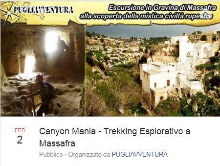 Canyon Mania - trekking esplorativo a Massafra