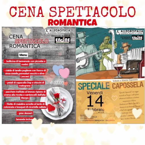 Cena romantica San Valentino...in musica! Speciale Capossela.