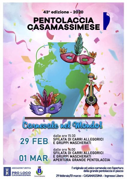 43^ Pentolaccia Casamassimese - tema Carnevale nel Mondo