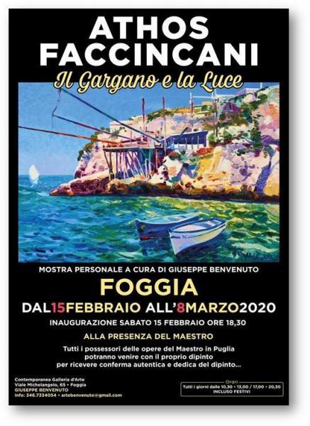 """A Foggia la personale di Athos Faccincani: """"Il Gargano e la luce"""""""