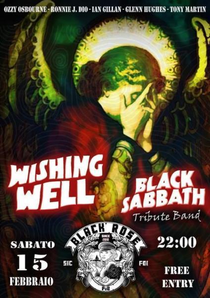 Wishing Well tribute Black Sabbath live al Black Rose Pub