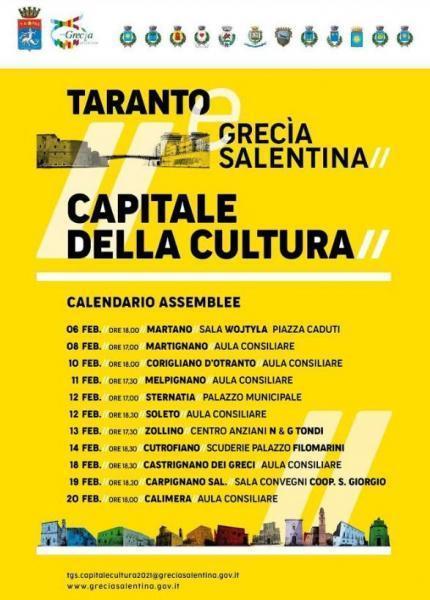 Taranto e la Grecìa Salentina Capitale Italiana della Cultura 2021